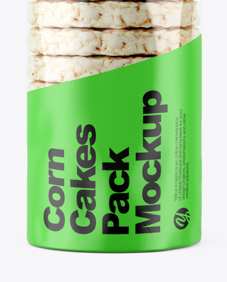 Corn Cakes Pack with Matte Label Mockup