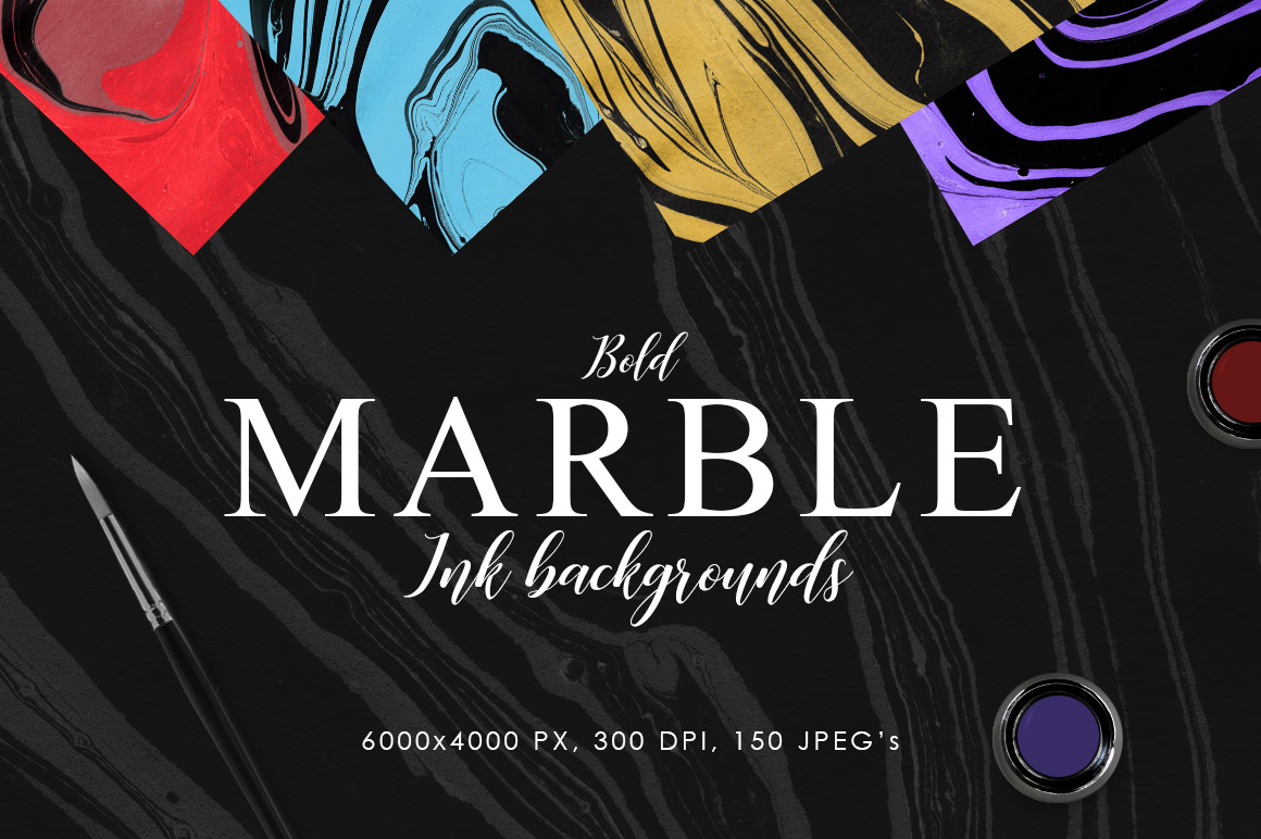 Bold Marble Ink Backgrounds