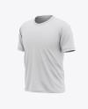 Men's Short Sleeve T-Shirt Mockup - Front Half Side View