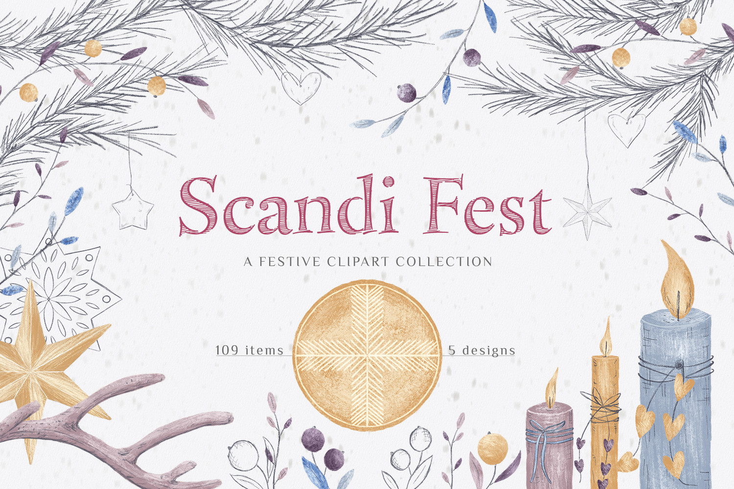 Scandi Fest - hand drawn collection
