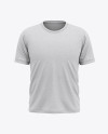 Men's Heather Short Sleeve T-Shirt Mockup - Front View