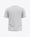 Men's Heather Short Sleeve T-Shirt Mockup - Back View