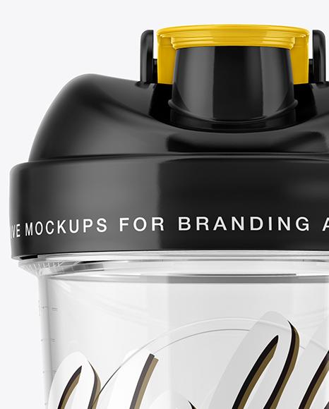 Transparent Shaker Bottle Mockup
