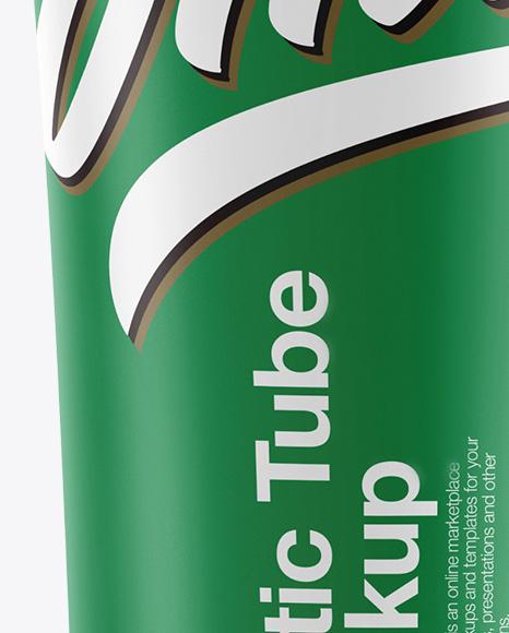 Matte Cosmetic Plastic Tube Mockup