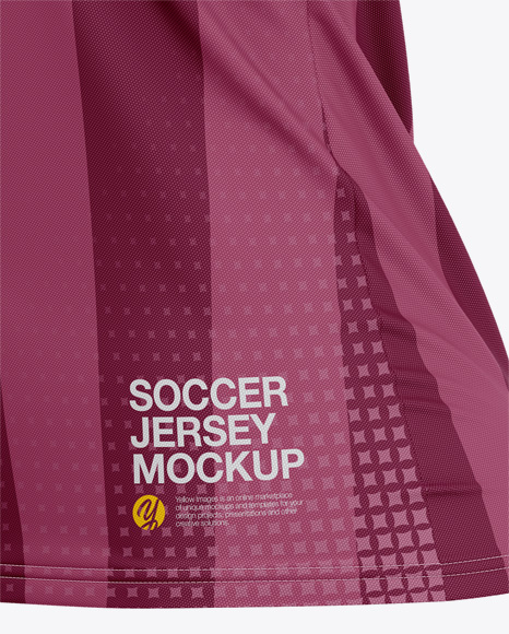 Women's Soccer V-Neck Jersey Mockup – Side View