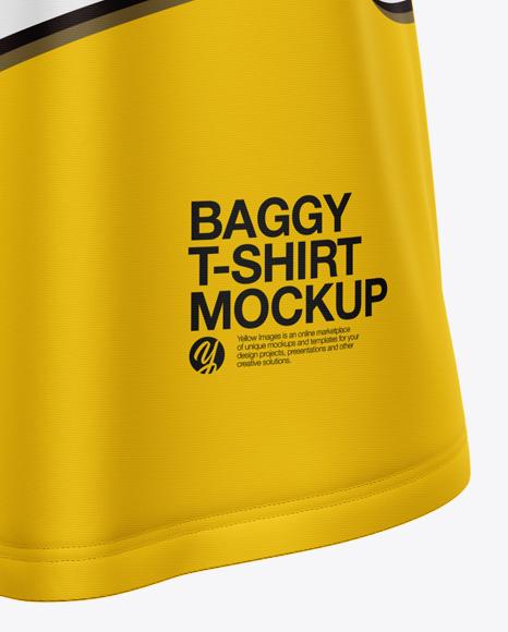 Men's Baggy T-Shirt Mockup