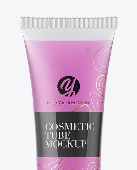 Semitransparent Cosmetic Soft Tube Mockup