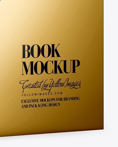 Download Book W Metallic Cover Mockup Half Side View In Stationery Mockups On Yellow Images Object Mockups PSD Mockup Templates