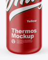 Matte Thermos Mockup