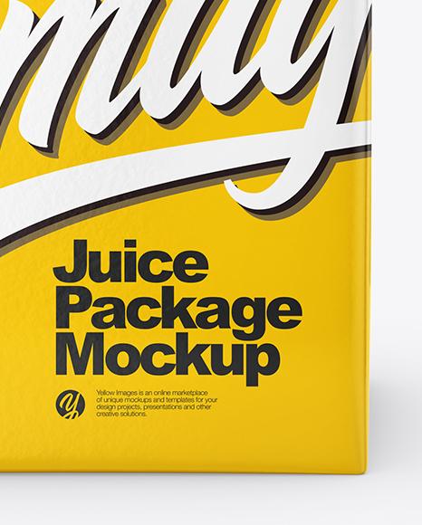 Juice Carton Package Mockup