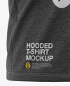 Men's Heather Hooded T-shirt Mockup - Front Half-Side View