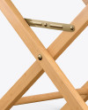 Wooden Director's Chair Mockup