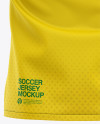 Men's Soccer Y-Neck Jersey T-shirt Mockup - Back View
