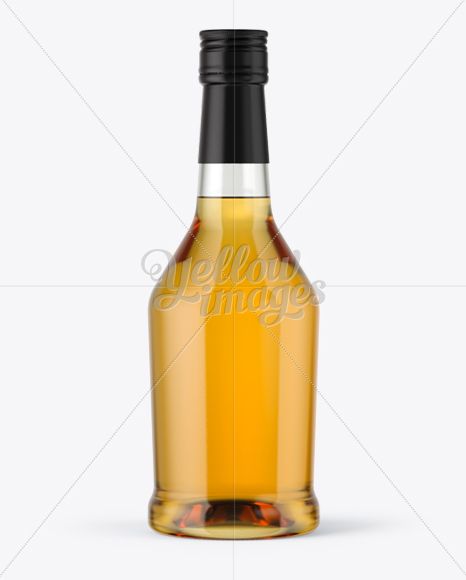 Clear Glass Whisky Bottle Mockup
