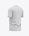 Men's Raglan Short Sleeve T-Shirt Mockup - Back Half Side View