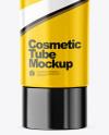 Glossy Cosmetic Tube Mockup
