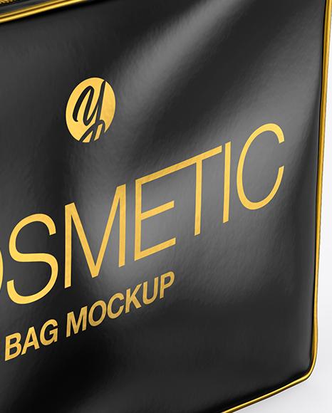 Glossy Cosmetic Bag Mockup