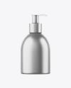 Matte Metallic Liquid Soap Bottle Mockup