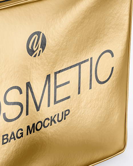 Metallic Cosmetic Bag Mockup