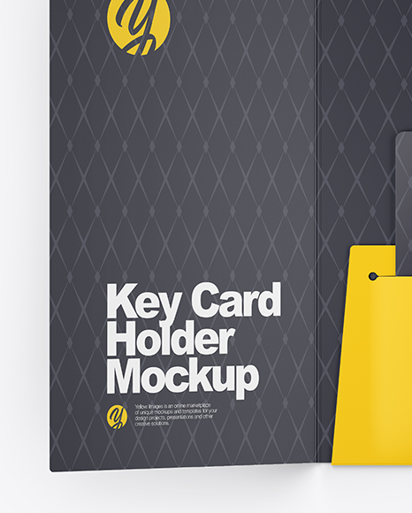 Key Card Holder Mockup In Object Mockups On Yellow Images Object