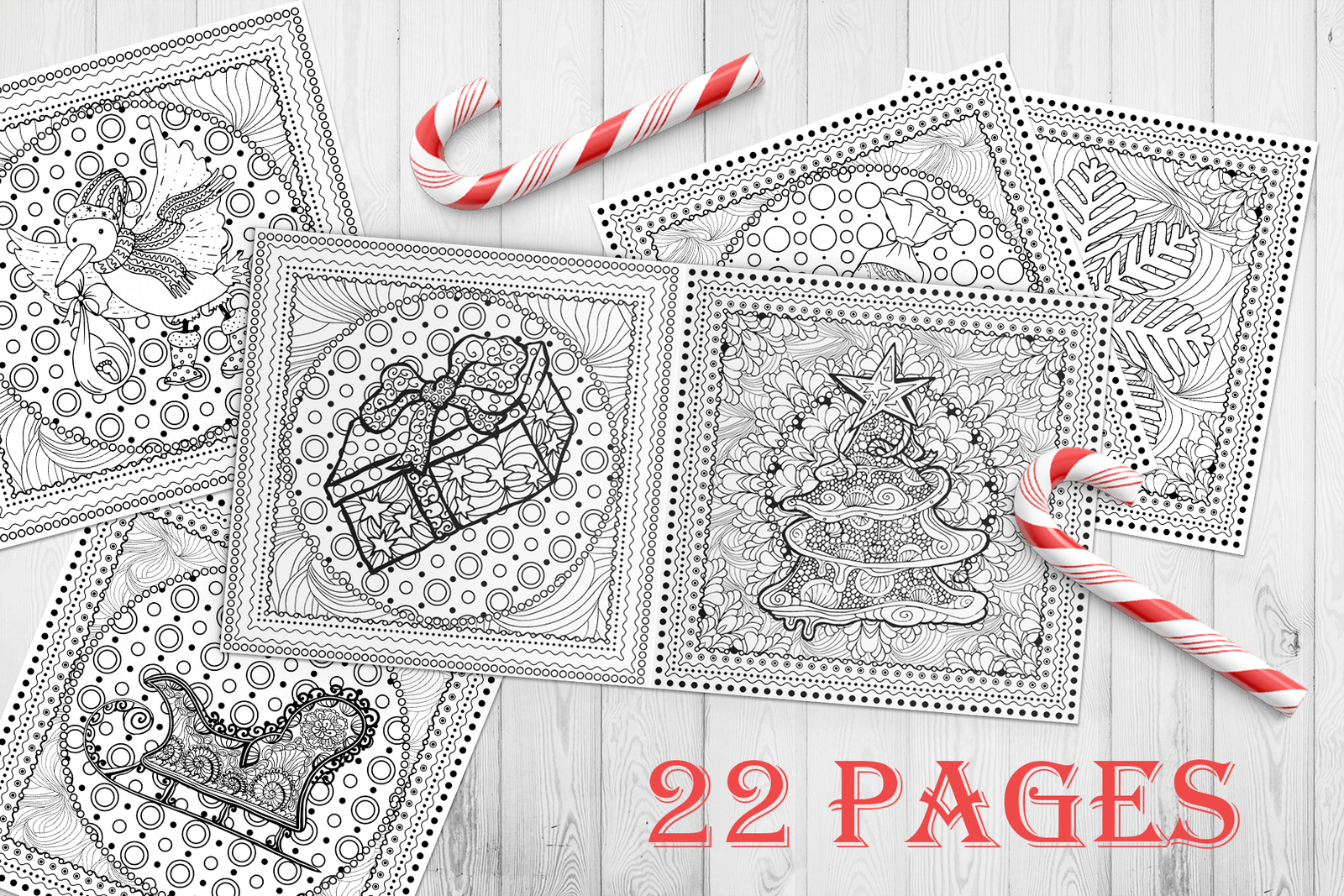 - Christmas Adult Coloring Book. Templates For 2019, 2020 Years In
