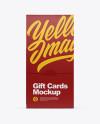 Matte Gift Business Cards Mockup