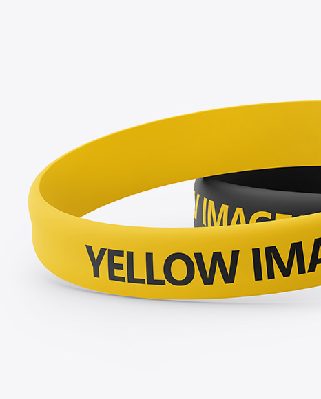 Download Silicone Wristbands Mockup Free Yellowimages