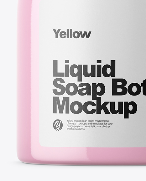 Clear Liquid Soap Bottle Mockup