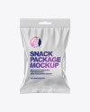 Matte Snack Package Mockup
