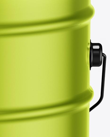 20L Metallic Paint Bucket Mockup