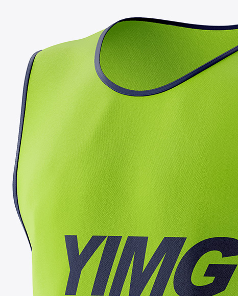 Download Soccer Bib Mockup Back View Yellow Images