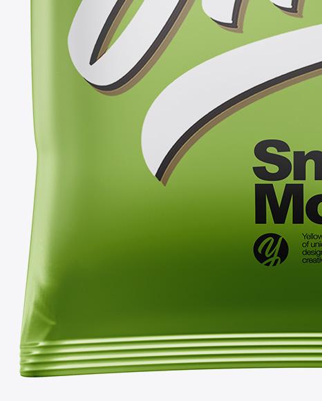 Metallic Snack Bag Mockup
