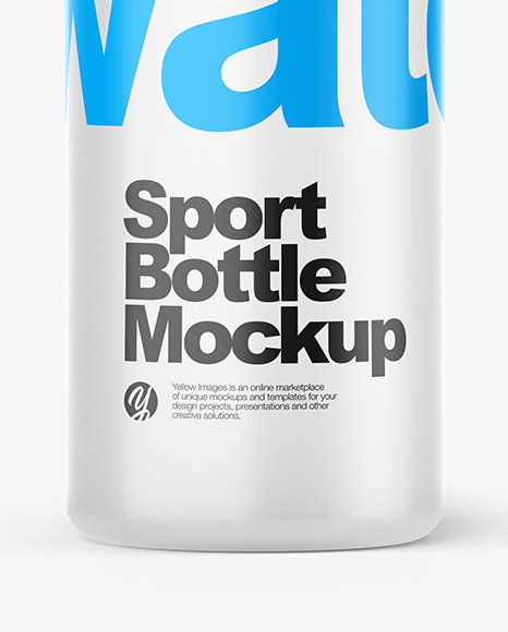 Plastic Sport Bottle Mockup In Bottle Mockups On Yellow Images Object Mockups