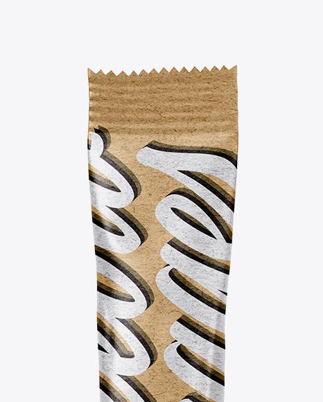 Kraft Stick Sachet Mockup
