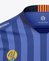 Men's V-Neck Soccer Jersey Mockup - Front View - Football Jersey Soccer T-shirt