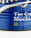 Glossy Tin Can Mockup