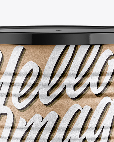 Kraft Tin Can Mockup