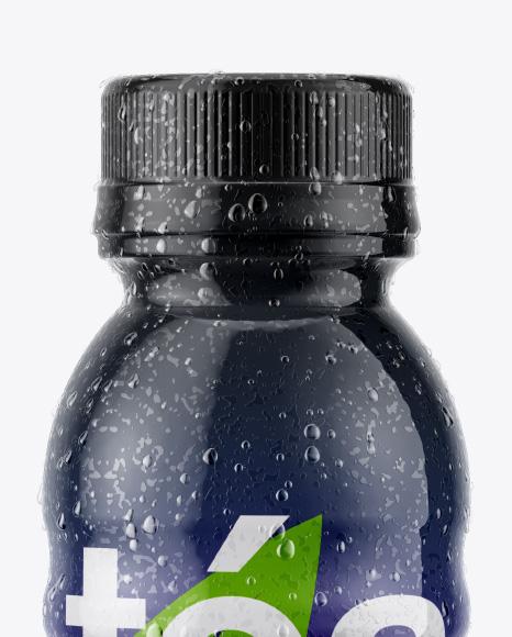 Bottle with Condensation in Shrink Sleeve Mockup
