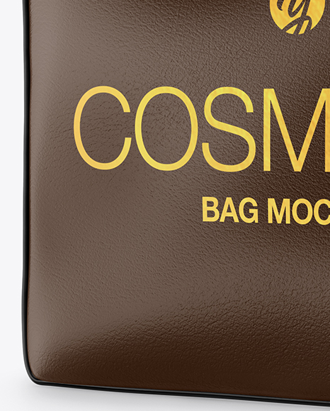 Leather Cosmetic Bag Mockup