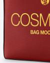 Textured Cosmetic Bag Mockup
