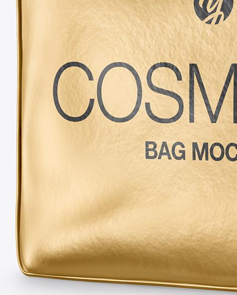Metallic Cosmetic Bag Mockup