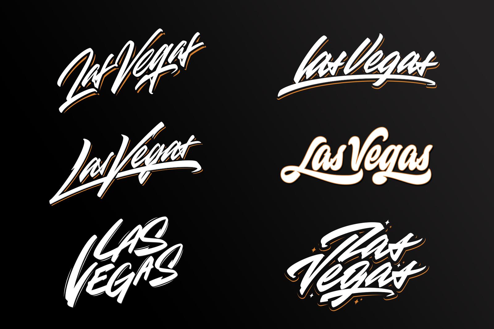 Las Vegas vector lettering