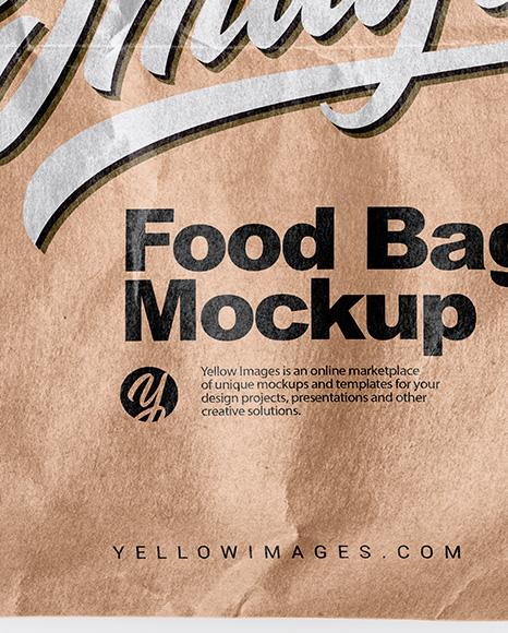 Download Kraft Paper Food Bag Mockup In Bag Sack Mockups On Yellow Images Object Mockups PSD Mockup Templates
