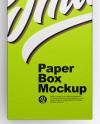 Opened Metallic Box Mockup