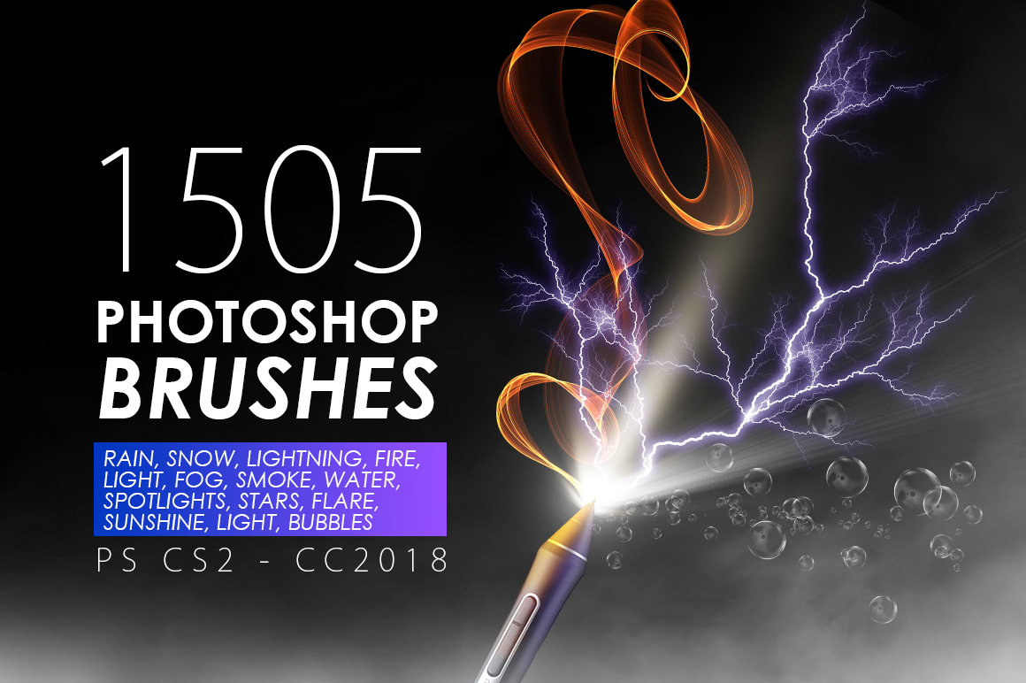 1505 Visual Effect Photoshop Brushes in Brushes on Yellow Images