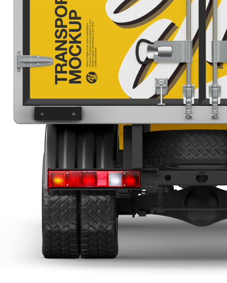 Box Truck Mockup - Back View