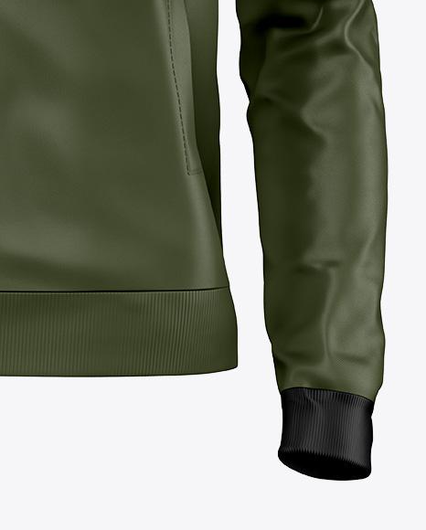 Zipped Bomber Jacket Mockup