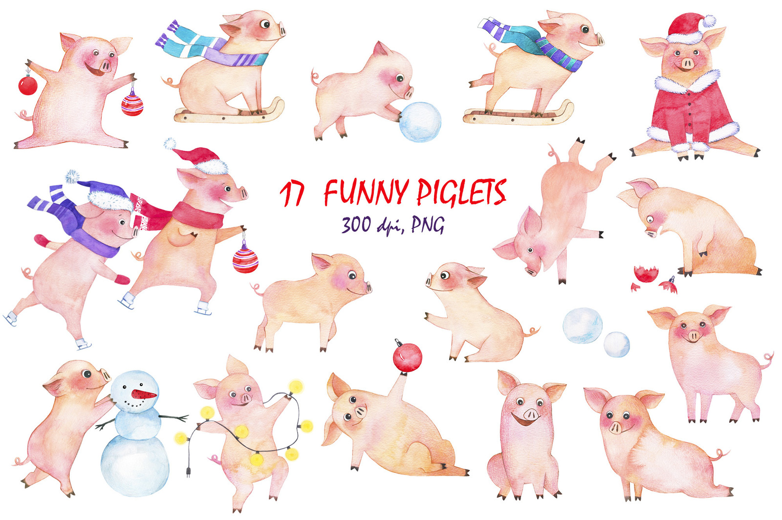 Holiday with funny piglets!
