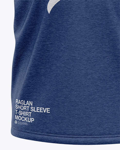 Men's Heather Raglan Short Sleeve T-Shirt Mockup - Front View