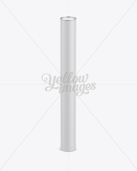 Extra Long Paper Tube w/ a Convex Lid - High-Angle View